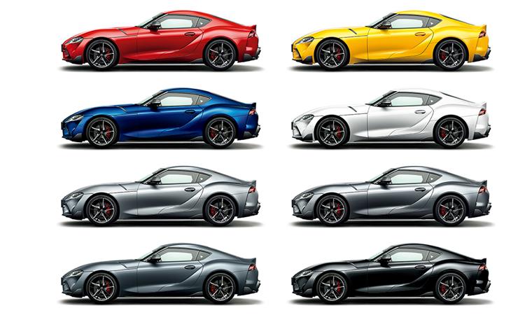All NEW Toyota Supra มีสีตัวถังภายนอก ให้เลือก 8 สี