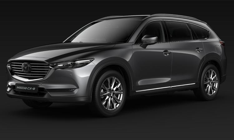 Mazda CX-8 สีเทา Machine Grey