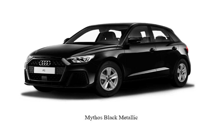 Audi A1 Sportback สีดำ Mythos Black Metallic