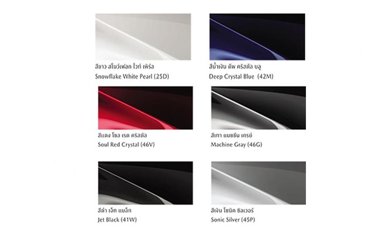 All New Mazda CX-8 มีสีตัวถังภายนอก มีให้เลือก 6 สี