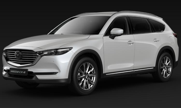 Mazda CX-8 สีขาว Snow Flake White Pearl