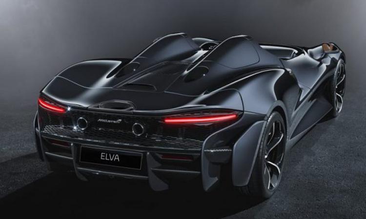 ดีไซน์ด้านหลัง McLaren Elva
