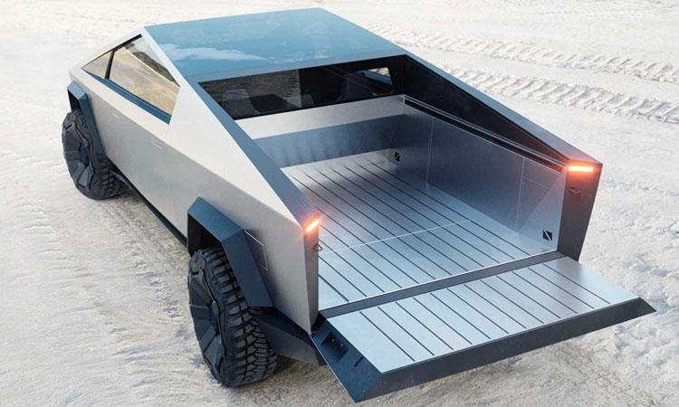 ดีไซน์กระบะ Tesla Cybertruck EV