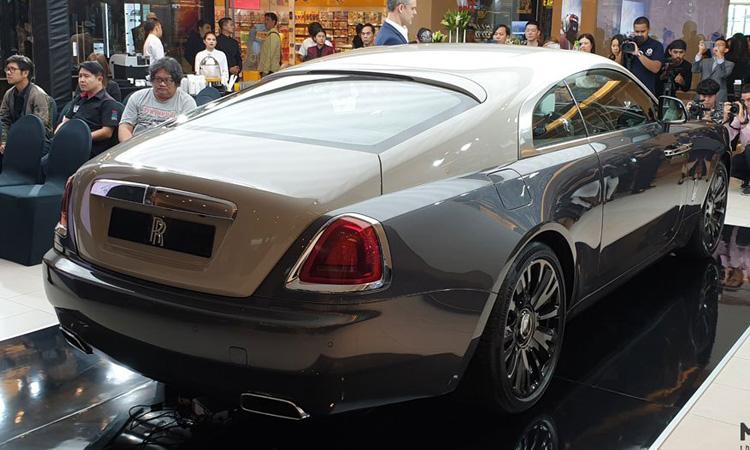 ดีไซน์ด้านหลัง Rolls-Royce Wraith Eagle VIII 2019