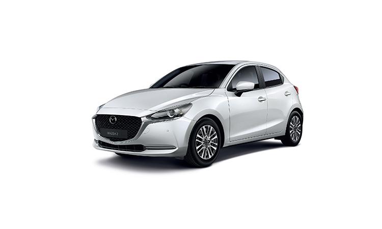 Mazda 2 Minorchange สีขาว Ceramic Metallic