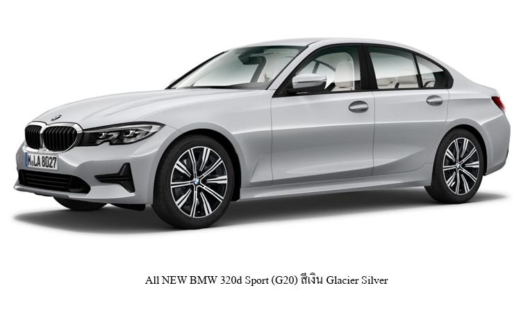 All NEW BMW 320d Sport (G20) สีเงิน Glacier Silver