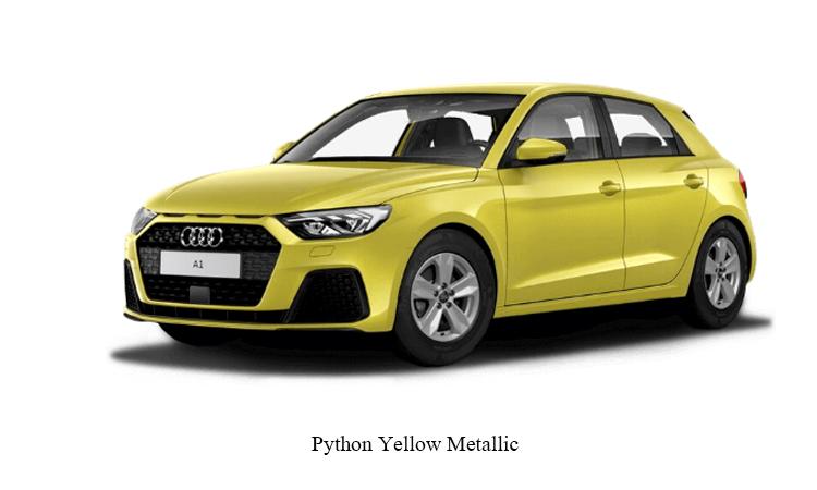 Audi A1 Sportback สีเหลือง Python Yellow Metallic
