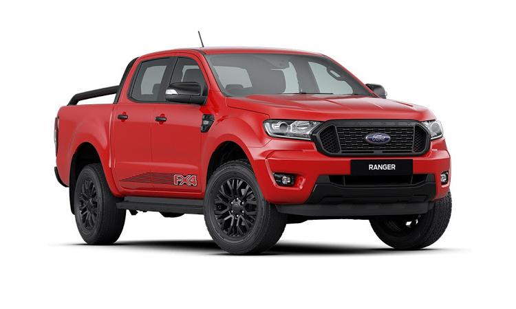 Ford Ranger FX4 สีแดง