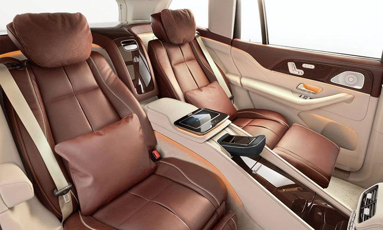 ที่นั่งด้านหลัง Mercedes-Maybach GLS