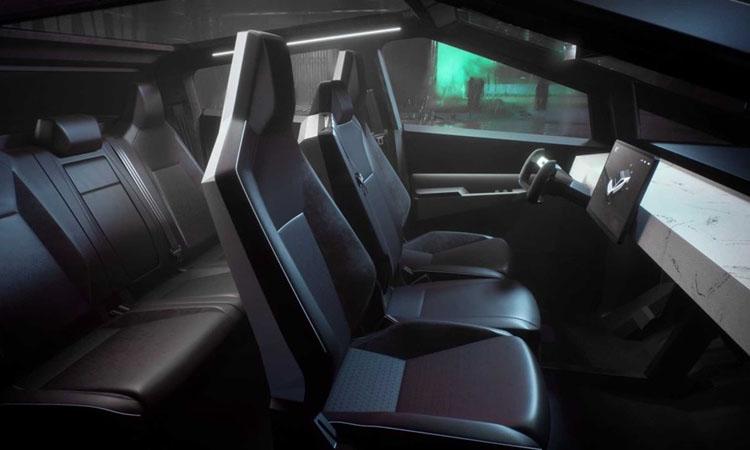 ภภายใน Tesla Cybertruck EV