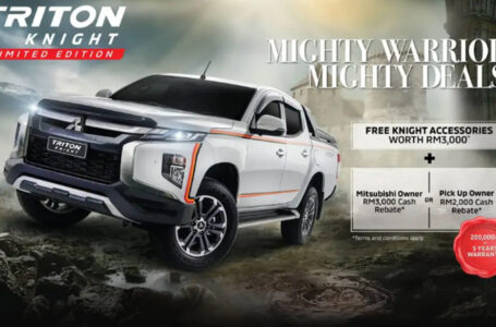 Mitsubishi Triton Knight Limited Edition ในมาเลเซีย