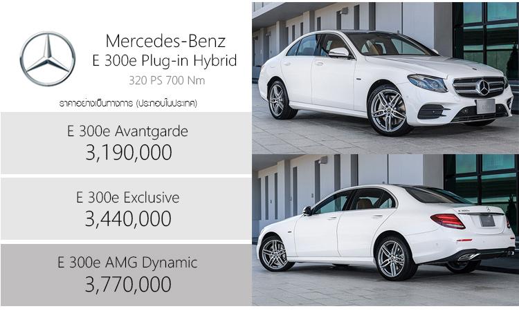 ราคา Mercedes-Benz E 300e Plug-in Hybrid