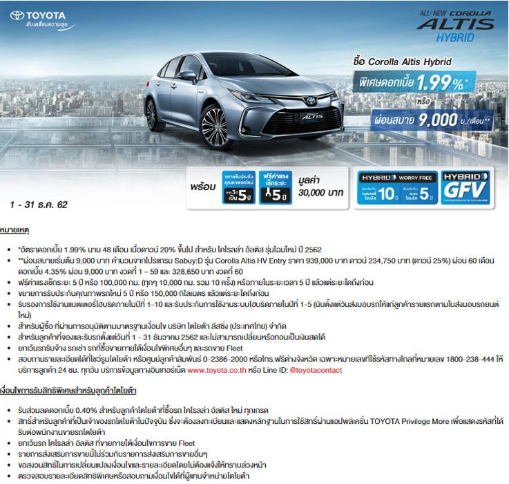 โปรโมชั่น All-New Corolla Altis