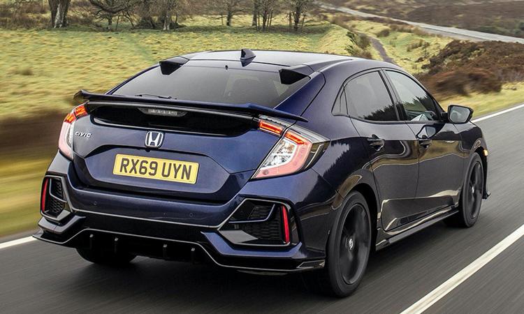 ดีไซน์ด้านหลัง Honda Civic Sport Line 2020
