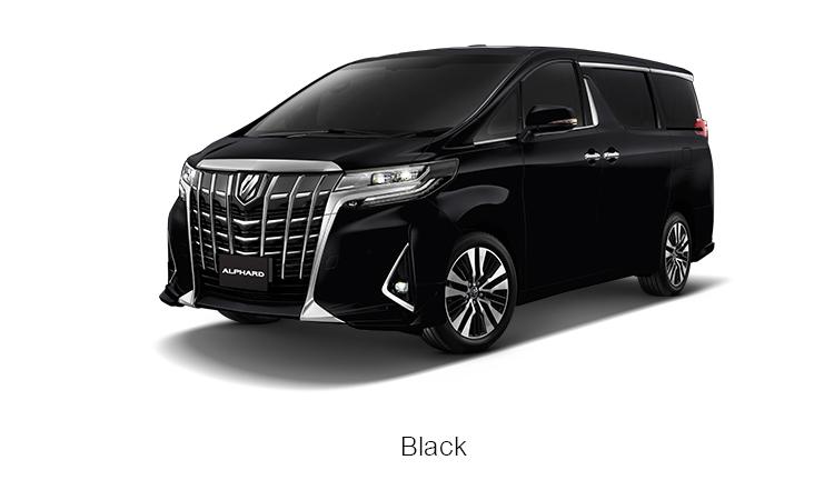 สีตัวถังภายนอก Toyota Alphard