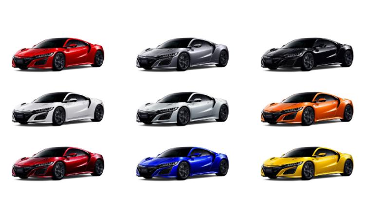 สีตัวถัง NEW Honda NSX 2020