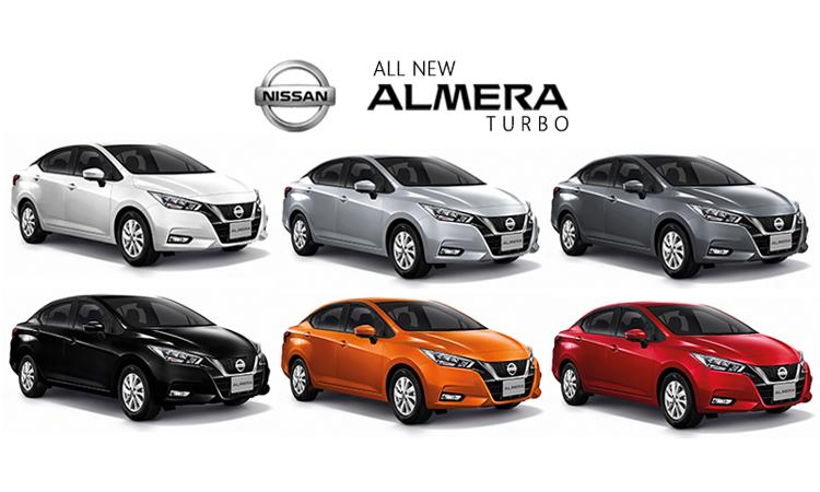 สีตัวถัง ตารางราคาผ่อน/ดาวน์ All NEW Nissan ALMERA 1.0 TURBO