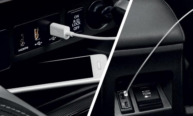 ช่องเสียบ USB Mitsubishi Pajero Sport 2020