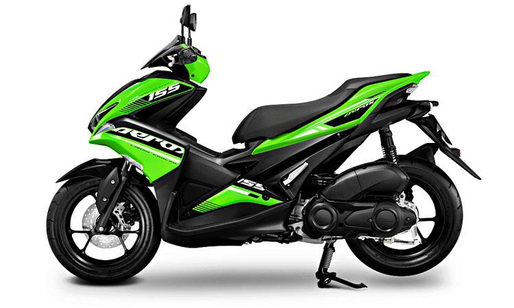 Yamaha Aerox 155 สีเขียวดำ