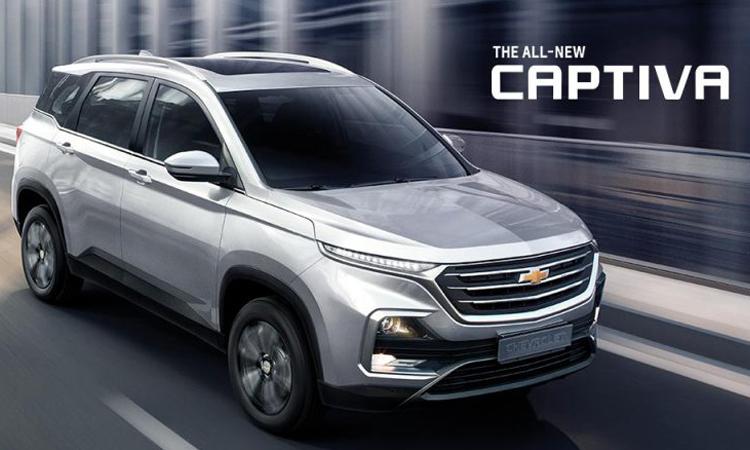 Chevrolet Captiva สีเงิน Dazzling Silver