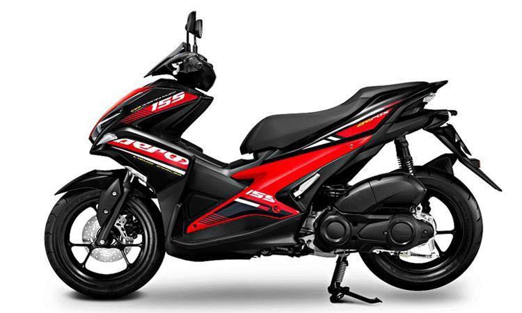 Yamaha Aerox 155 สีแดงดำ