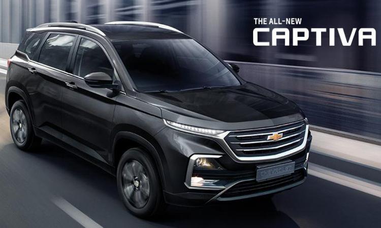 Chevrolet Captiva สีดำ Starry Black