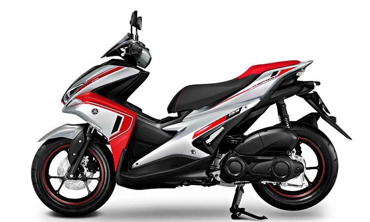 Yamaha Aerox 155 สีขาวแดง