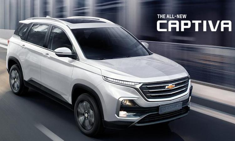 Chevrolet Captiva สีขาว Candy White