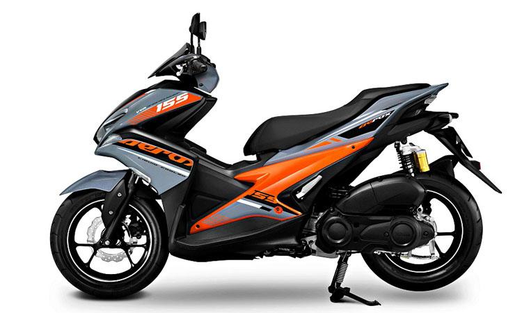 Yamaha Aerox 155 สีเทาส้ม