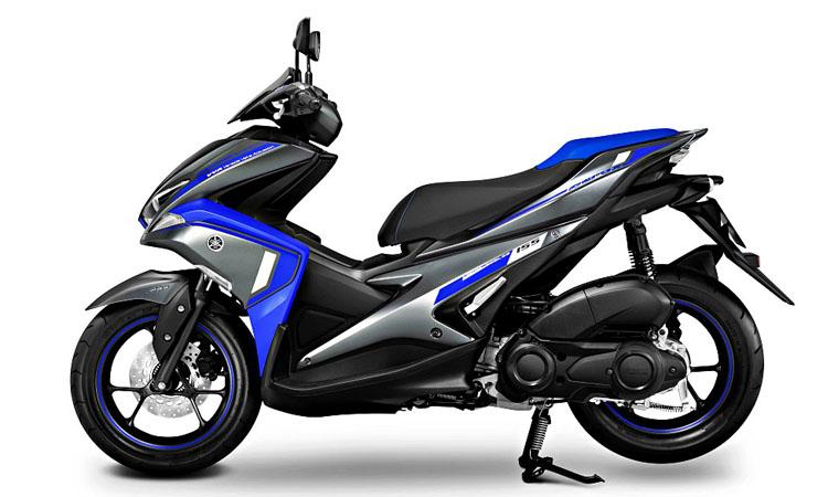 Yamaha Aerox 155 สีน้ำเงินดำ