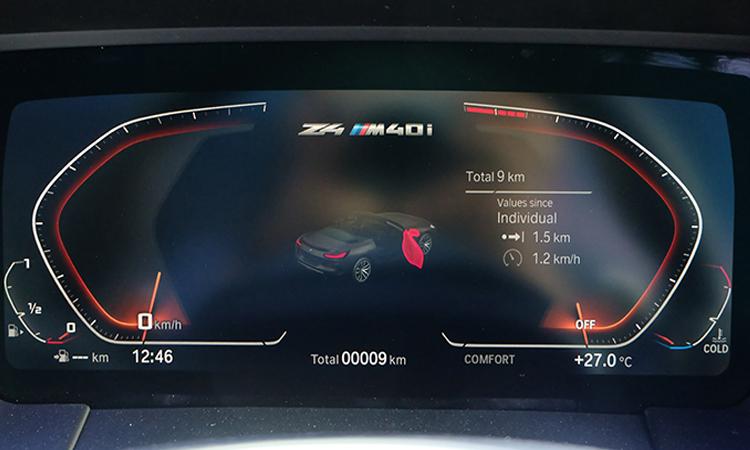 เรือนไมล์ BMW Z4 M40i