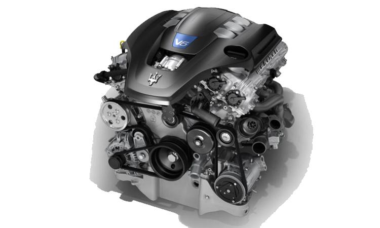 เครื่องยนต์ Maserati Gasoline V6 3.0 Twin Turbo