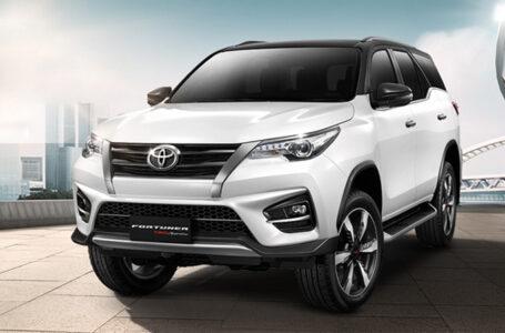 ราคา ตารางผ่อนดาวน์ Toyota Fortuner ปี 2020-2021
