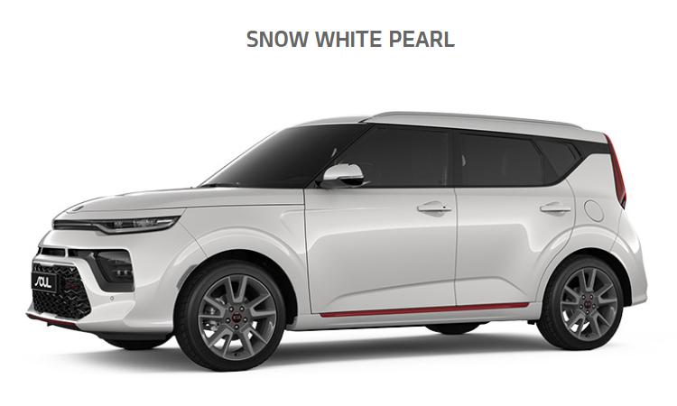 Kia Soul EV2020 สีขาว Snow White Pearl