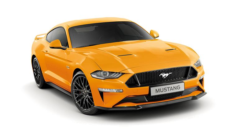 Ford Mustang สีส้ม Orange Fury Metallic Tri-Coat