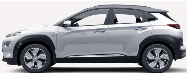 Hyundai KONA Electric EV สีขาว Chalk White