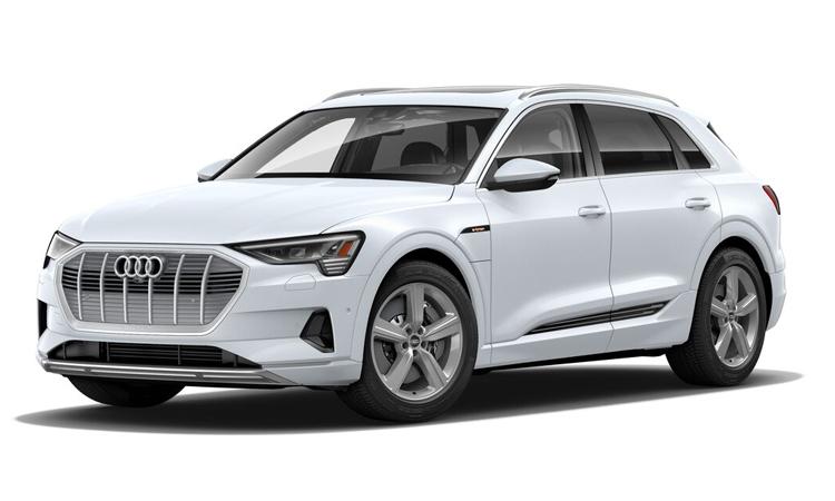 Audi e-tron สีขาว Glacier White Metallic