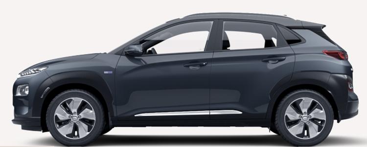 Hyundai KONA Electric EV สีดำ Dark Knight