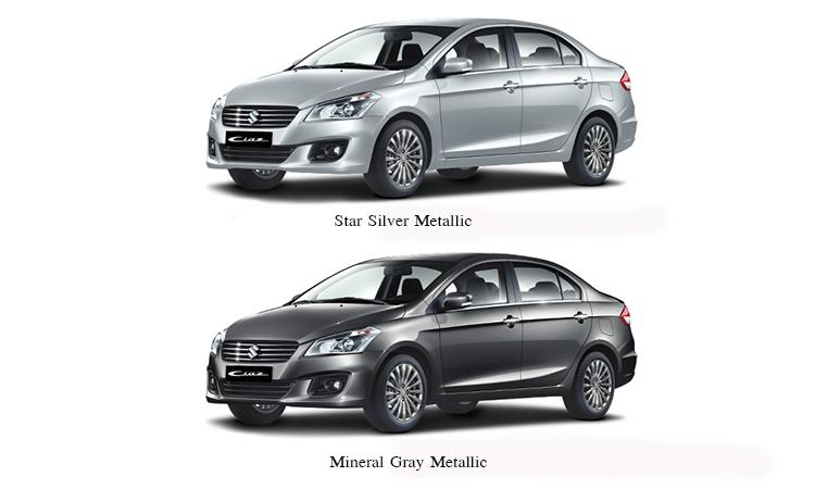 สีตัวถัง SUZUKI CIAZStar Silver Metallic,Mineral Gray Metallic