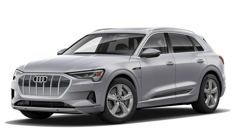 Audi e-tron สีเงิน Floret Silver Metallic