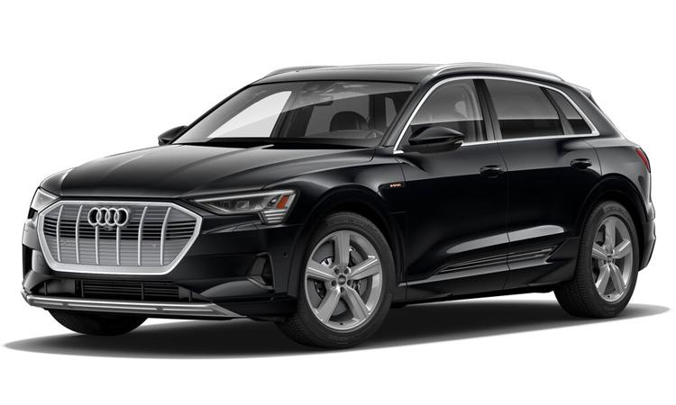 Audi e-tron สีดำ Mythos Black Metallic