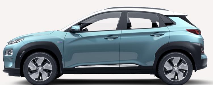 Hyundai KONA Electric EV สีฟ้า Ceramic Blue