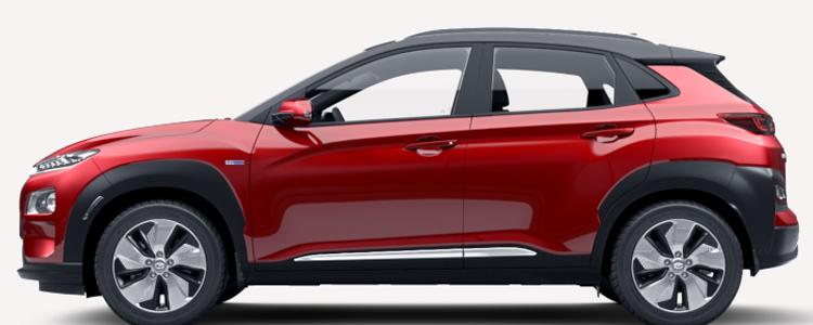 Hyundai KONA Electric EV สีแดง Pulse Red