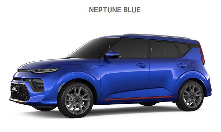 Kia Soul EV2020 สีน้ำเงิน Neptune Blue