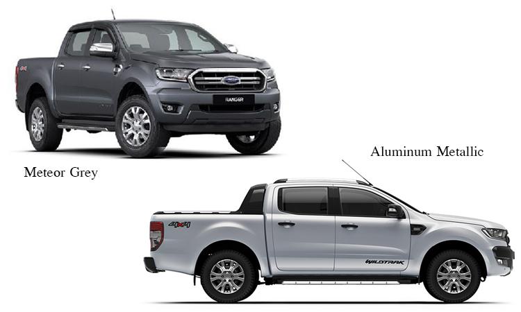 สีตัวถังภายนอก Ford Ranger 2020