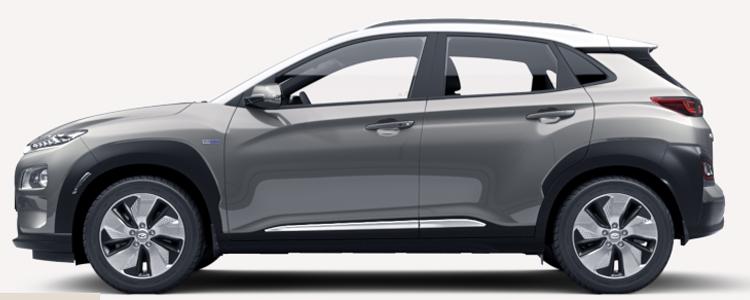 Hyundai KONA Electric EV สีเทา Galactic Gray