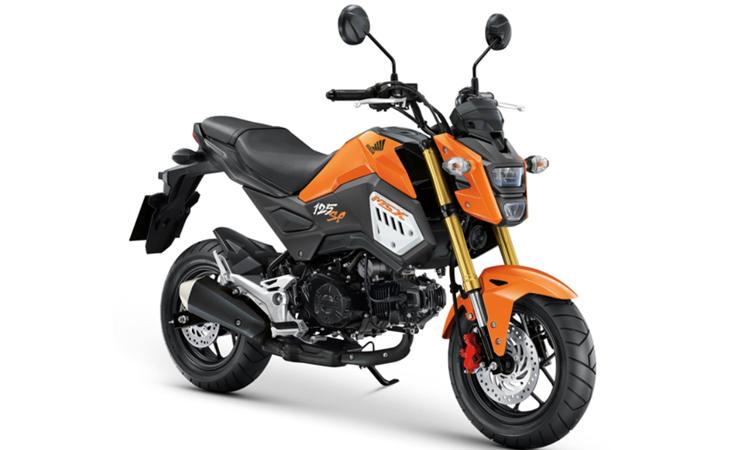Honda MSX125SF สีส้ม-ดำ