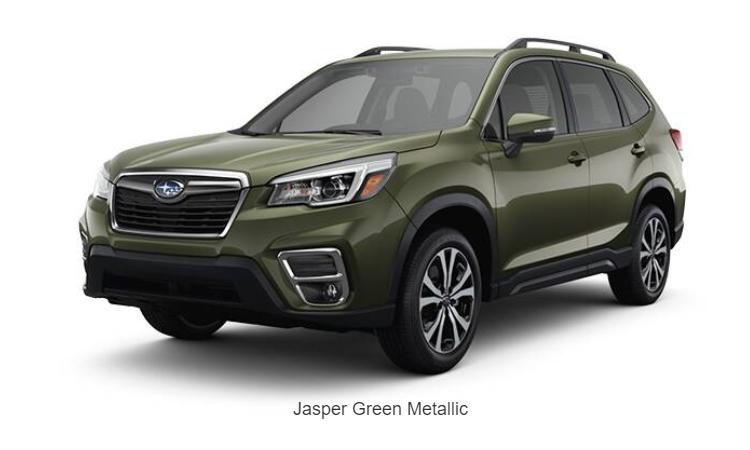 Subaru Forester GT Edition สีเขียว Jasper Green Metallic