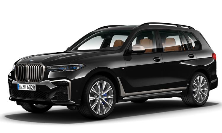 BMW X7 M50d สี Carbon Black