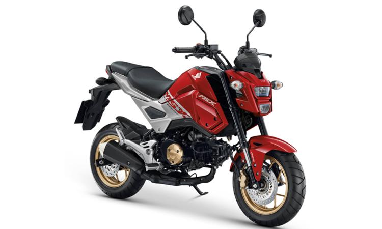 Honda MSX125SF สีแดง-เทา